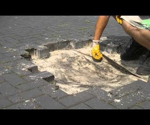 HOW TO FIX LOW SPOT IN DRIVEWAY+REPAIR PIPE  BLOCK PAVERS REMOVE+LAY COMPACT SAND BED JOINTS INSTALL