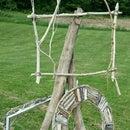 Driftwood Wedding Frame Set & Stand