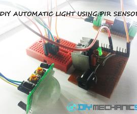 DIY SIMPLE AUTOMATIC LIGHT USING PIR MOTION SENSOR.