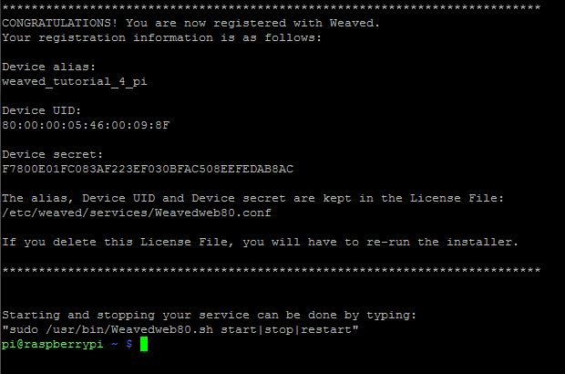 Picture of Enter Your Weaved Login Information.