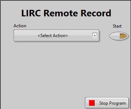 LIRC - LabVIEW - Recording Remote profile