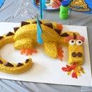 Fire-Breathing Dragon Cake!!