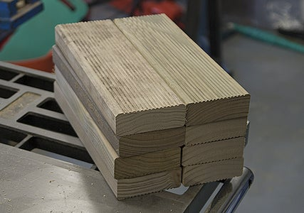 Cut 8 Pieces of 2x4s or Decking Timber