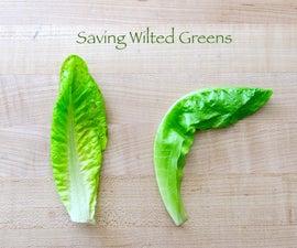 Saving Wilted Greens