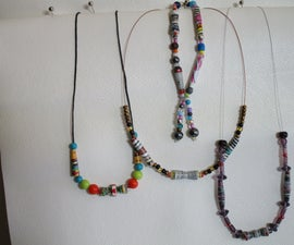 Upcycled Paper Beads