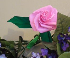How to Make A Beautiful Origami Rose For Valentine's Day!
