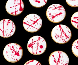 How to Make Blood Spatter Cookies