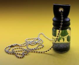 Living Plant Pendant Necklace