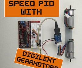 Speed PID using Digilent Gear-Motors and Encoders!