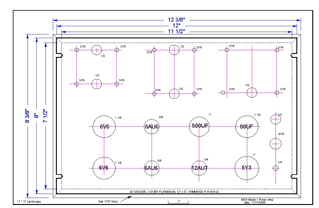 Picture of Drilling Template