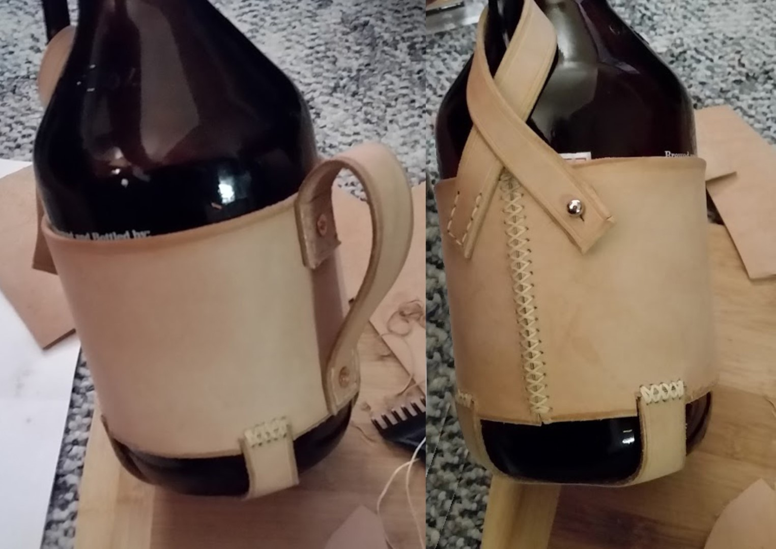 Picture of Leather Beer Growler Holder