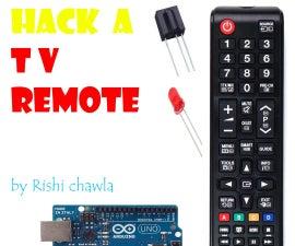 Hack a TV remote