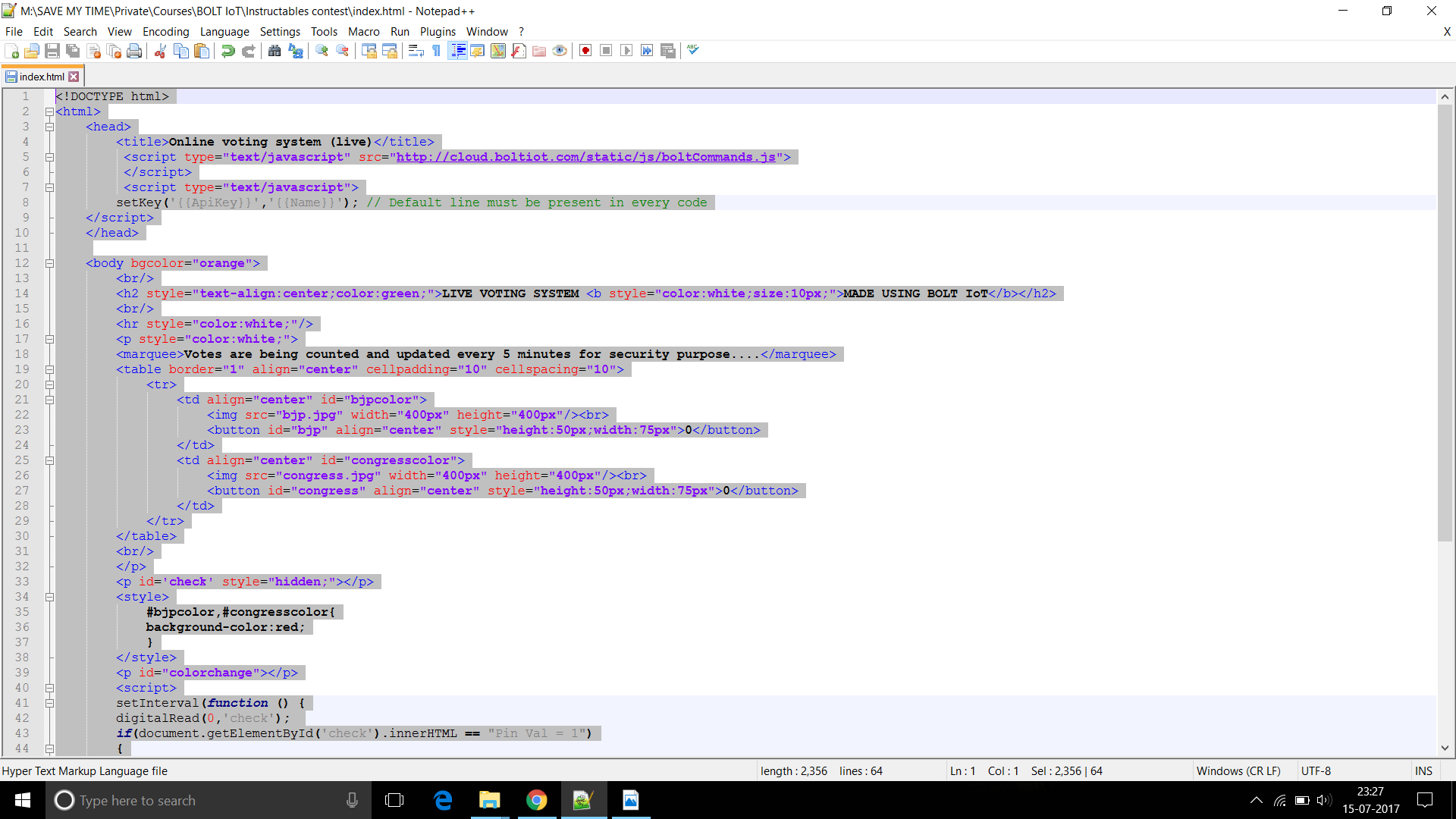 Picture of Developing Web Based Application Using HTML and JS