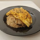 Shiitake and Cremini Fried Rice (and an Omelette on Top)