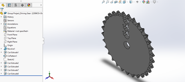 Picture of Designing the Sprocket With Keyholes in Solidworks