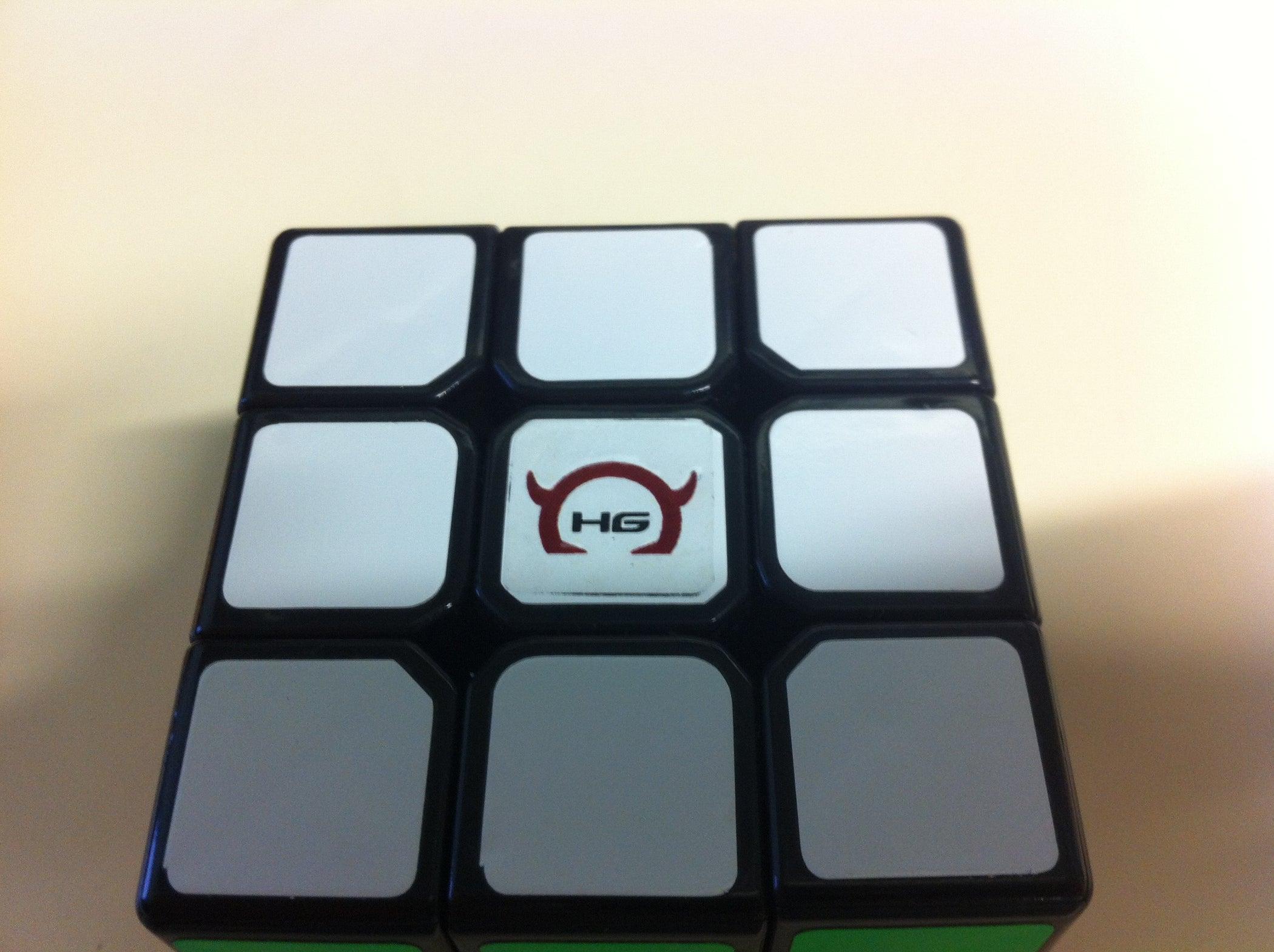 Rubiks custom logo sticker easy