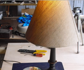 DIY Stacked Book Lamp