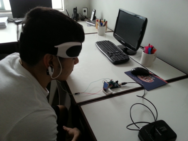 Picture of Mini Arduino Portable EEG -  Brain Wave Monitor +