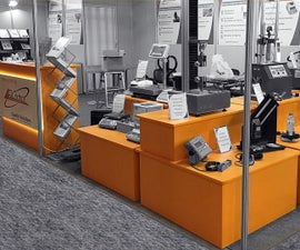Collapsible Portable Display Stands/Boxes with Built-In Storage Space