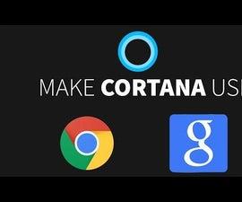 How to make Cortana use Google instead of Bing