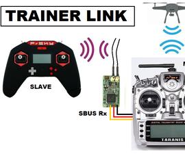 Simple Taranis X9D+ Wireless Trainer Using SBUS Receiver Input