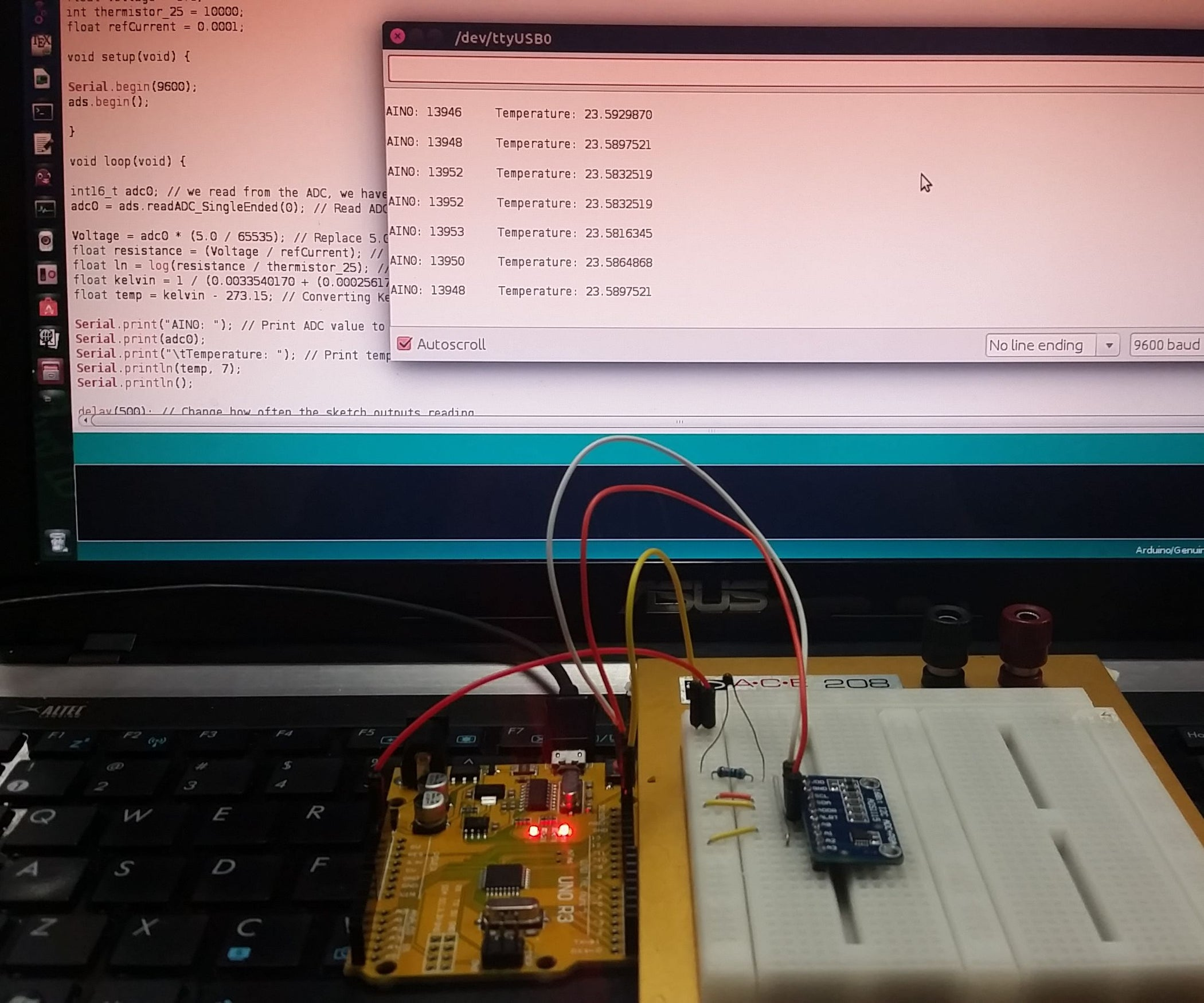 16 Bit I2c Temperature Monitor Using Arduino 6 Steps With Pictures Voltage Divider Circuit For Measure Analog