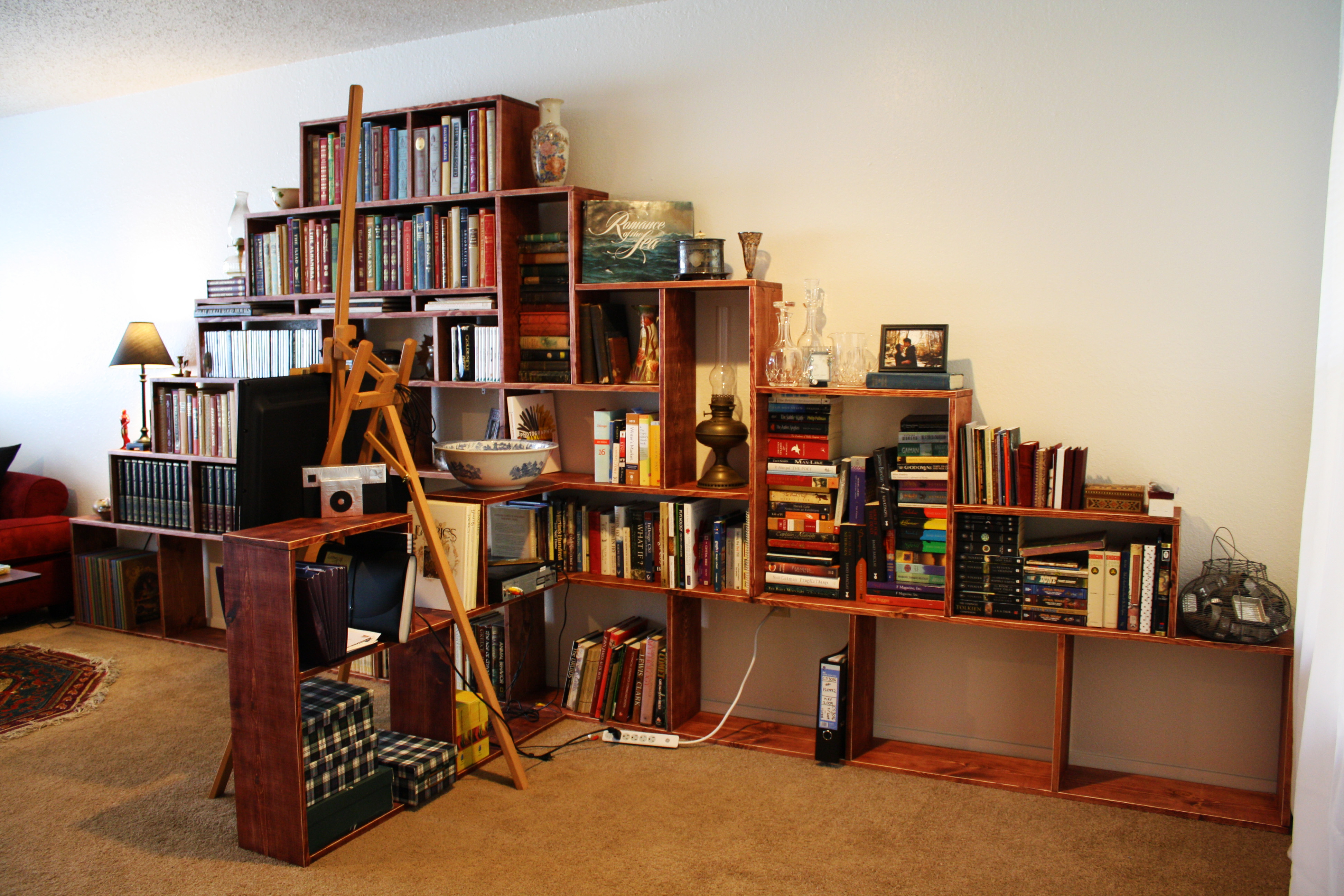 Picture of How to Make a Bookshelf Mountain!