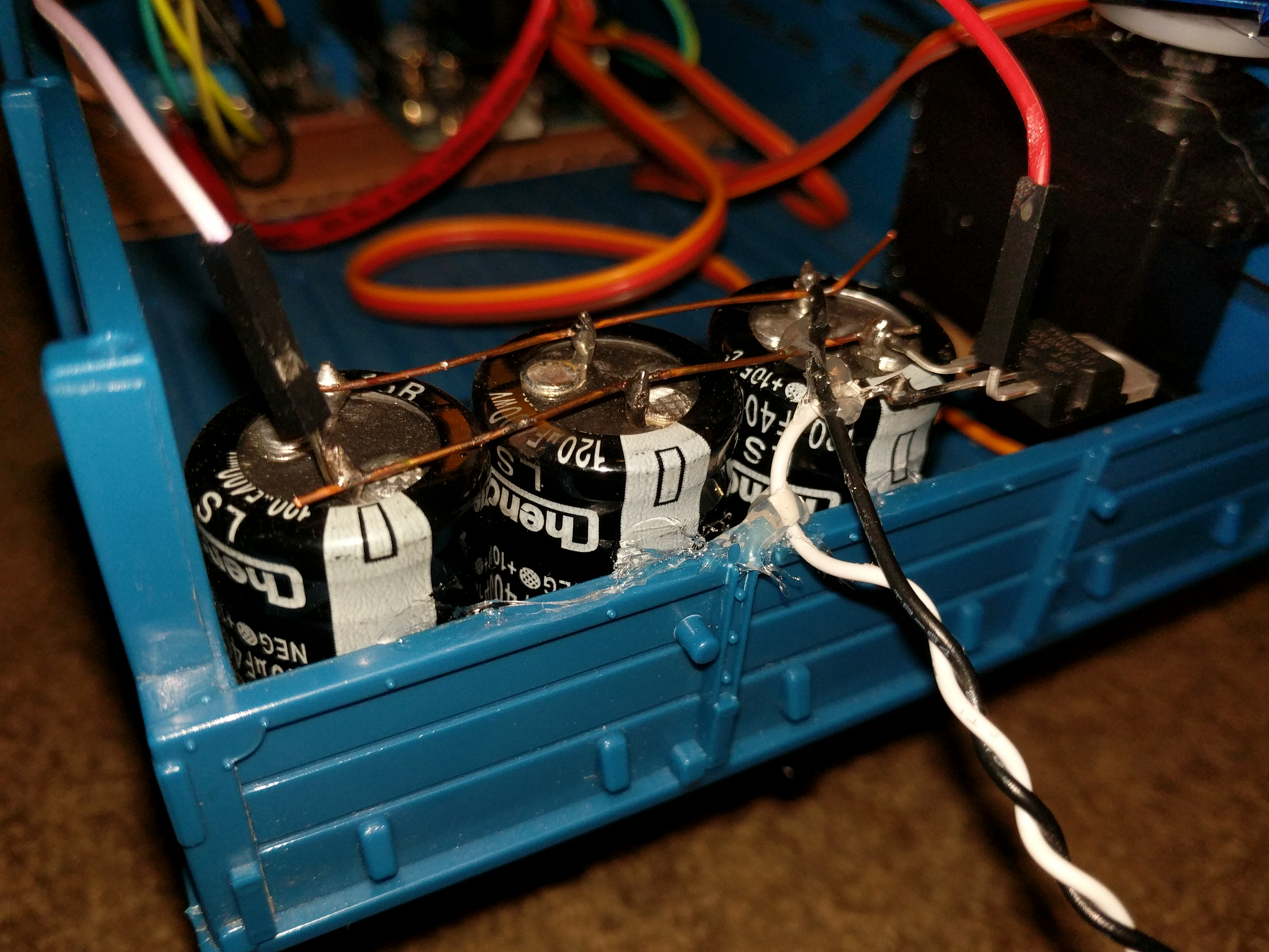 Picture of The Coilgun Capacitor Bank