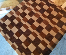 Meat and Cheese End Grain Cutting Board
