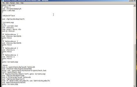 Creating a Screen: Main Program