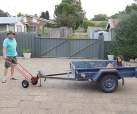How to Make a Simple Trailer Dolly Adapter for a Hand Trolley