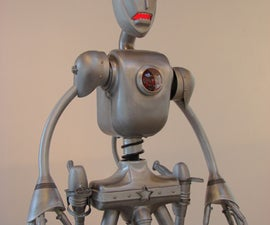 Giant Kinetic Robot Sculpture From Recycled and Found Materials