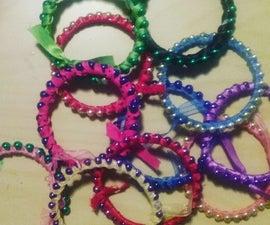 Ribbon Beaded Bangles