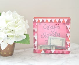 DIY Shadow Box Using Cardboard
