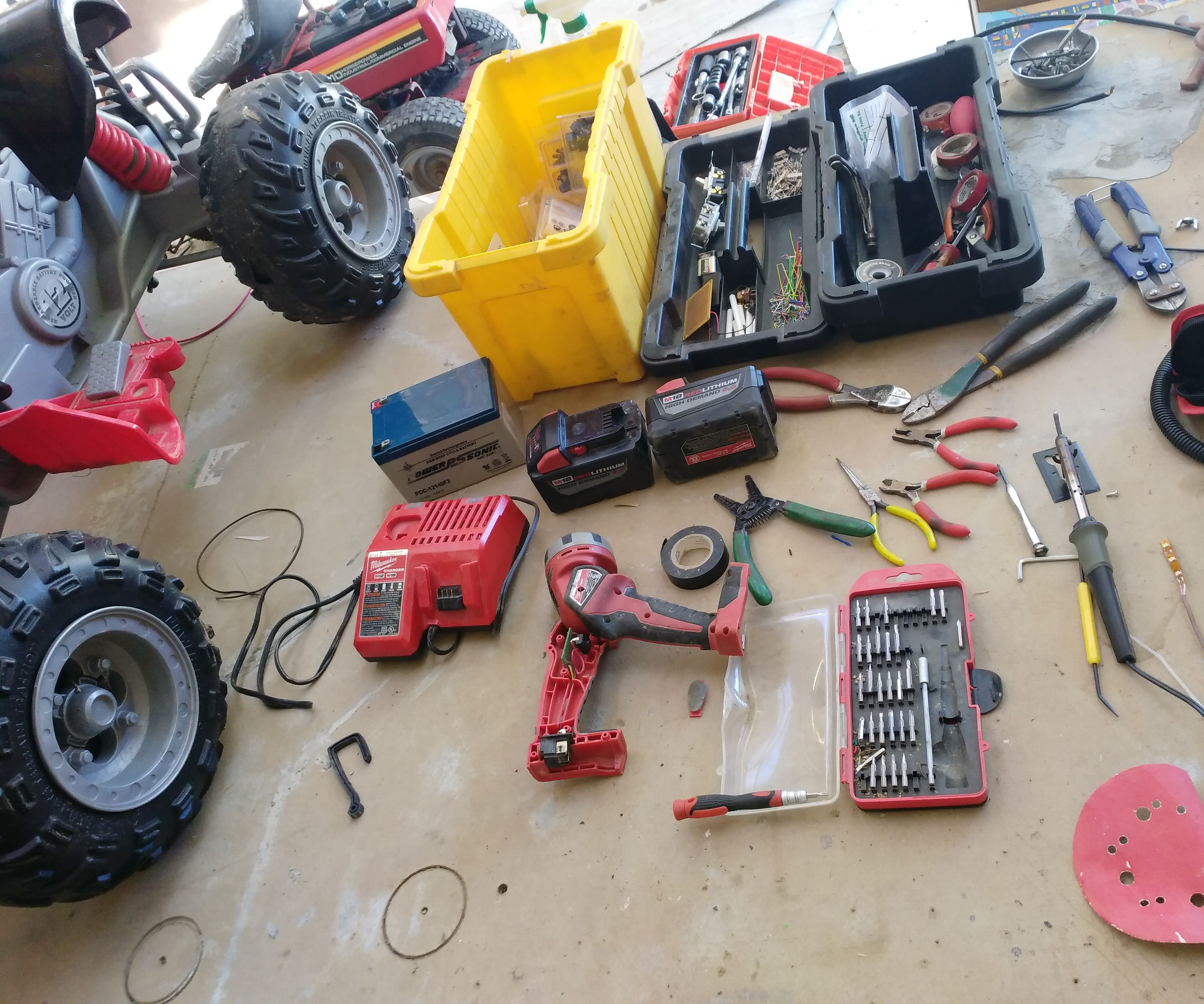 Converting Power Wheels to Run on 18v Lithium Tool Batteries: 6