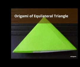 How to Make Origami of Equilateral Triangles With Pockets on Each Sides