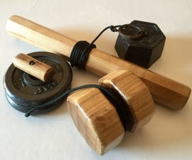 Wooden Wrist Rollers