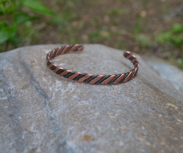 Hardware Store Steel and Copper Bracelet