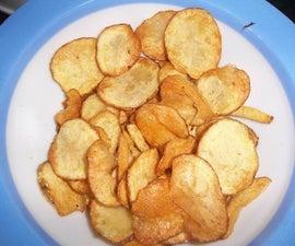 Healthy Snack. Homemade Potato Chips