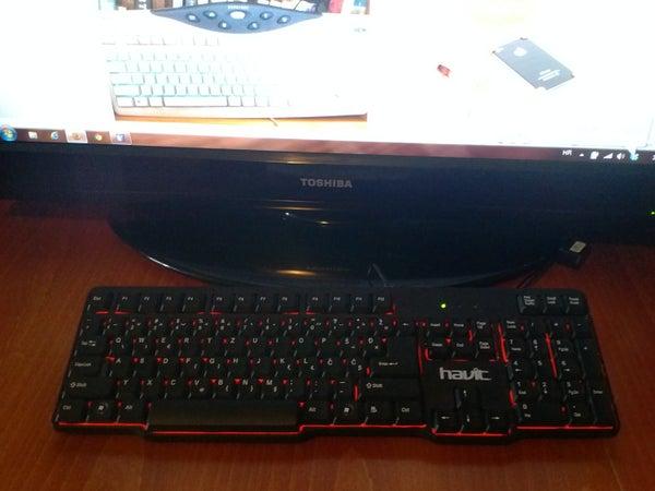 El-wire Keyboard  Backlight