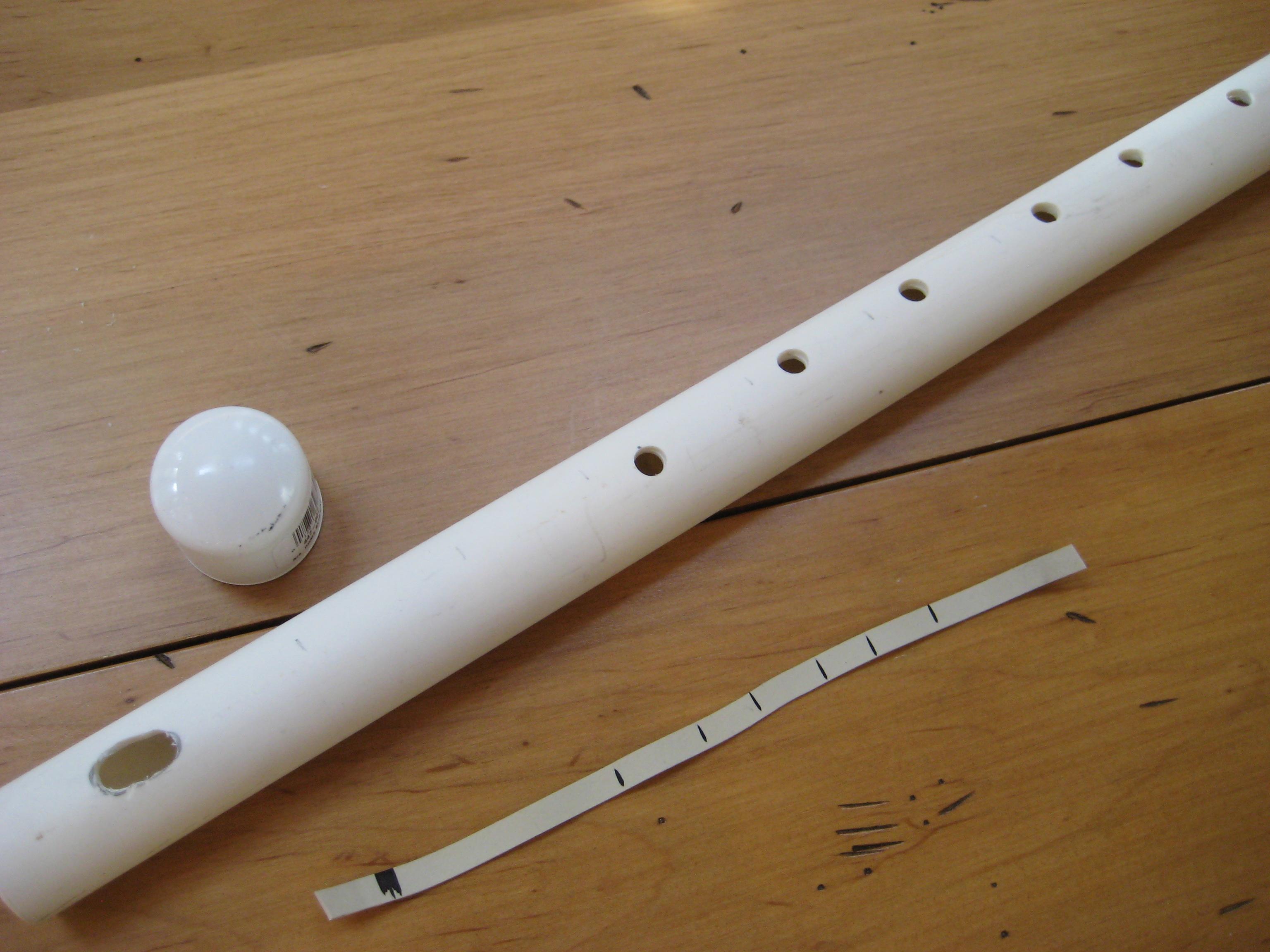 Флейта из бумаги своими руками