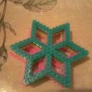 perler beads frozen snowflake