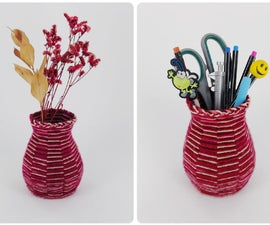 Weaving Wool - Vase or Pencil Holder