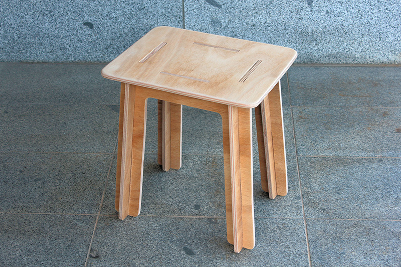 Picture of Simple Knock Down Stool Made From Plywood (flat Pack)