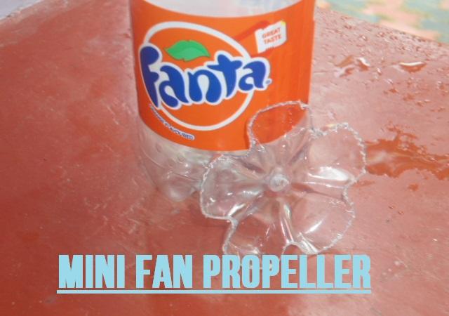 Picture of Mini Fan Propeller With a Empty Plastic Soda Bottle
