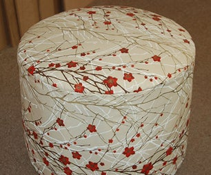 Make a Round Upholstered Ottoman
