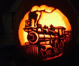 Carving an Intricate Pumpkin