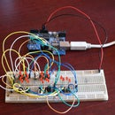 Controlling 20 Led's from 5 Arduino pins using Charlieplexing