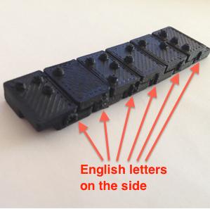 3D Printed Braille (Grade 1) Letter Blocks