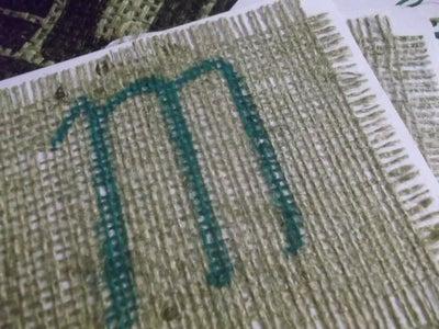 Rustic Wedding Invitation Using Burlap Fabric